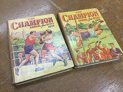 The Champion Annual Book For Boys 1953 & 1955