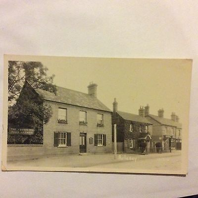 Real Photo Postcard Of Arlesey The Crown Inn