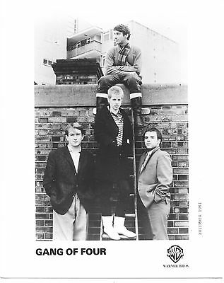 GANG OF FOUR vintage glamour Publicity (2) PHOTO PRESS KIT '70s Funk Punk Rock =