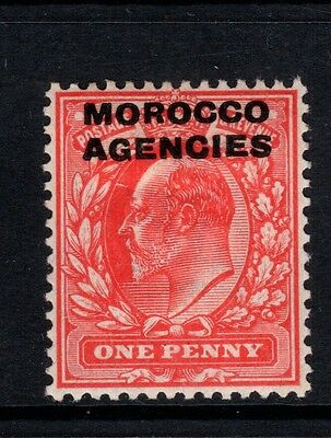 KEVII MOROCCO AGENCIES 1907 1d red SG32 Mounted Mint