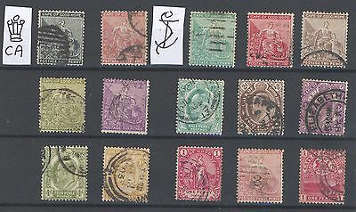 Cape Of Good Hope - 15 Stamps -  Up to 1 Shilling - Overprint -  Used