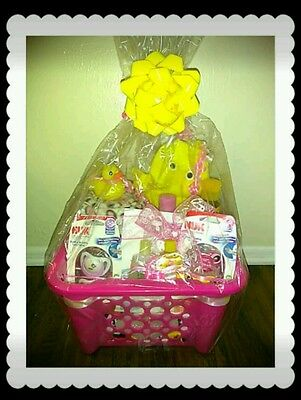 22pc Deluxe Newborn Gift Basket Baby Girl Shower Gift, $99 value