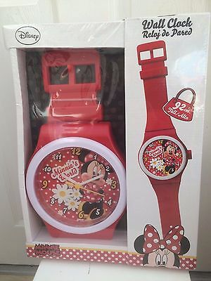 Minnie Mouse Wall Clock. Brand New In Sealed Box