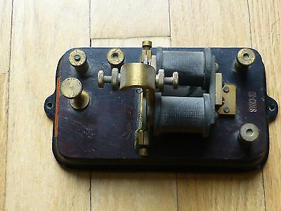 Vintage Signal Mfg. Co. Telegraph Key 20 Ohms Menominee, Mich, With Label