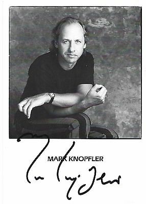 Mark Knopfler Signed Autograph Publicity Photo Very Collectible!