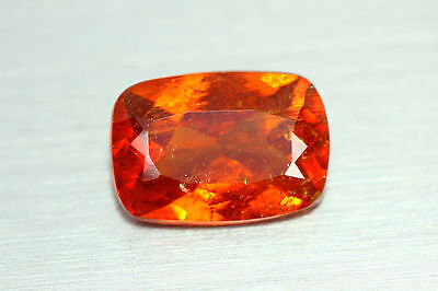 3.785Cts Amazing Top Luster Precision Cut 100% Nr! Fanta Orange Hessonite Garnet
