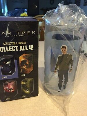 Star Trek Only In Theaters Glass Set KIRK Sealed With Box Never Opened 2008