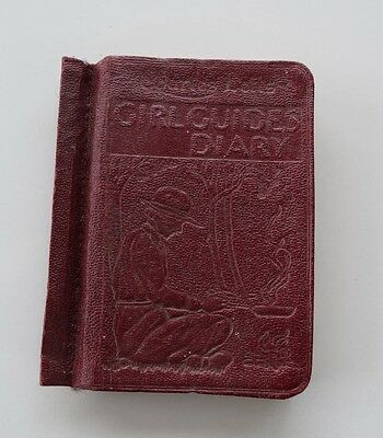 Old Girl Guides Diary From 1939 Few Light Pencil Words 75 Years Old + Brownies