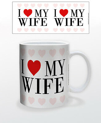I Heart My Wife 11 Oz Mug Heart Emotions Attraction Love Valentines Marriage Cup