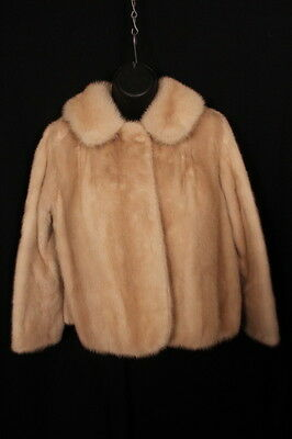 Vintage Cream/blonde Mink JACKET. Short Length, beautiful colour & condition