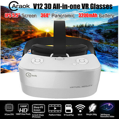 Caraok V12 All In One 3D VR Box Virtual Reality Goggles Glass Headset Panoramic