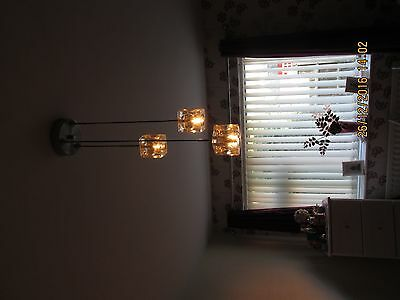 NEXT glass cube ceiling light and floor lamp