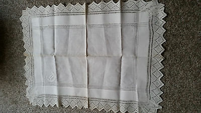 Laced Edged Linen Tray cloth