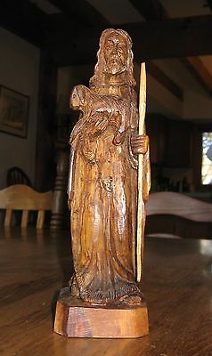 St. Francis of Assisi Carved Olive Wood Statue made in Bethlehem VGC