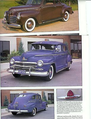 1940 1941 -1946 1947 1948 PLYMOUTH Color16 page Article ROADKING  DELUXE