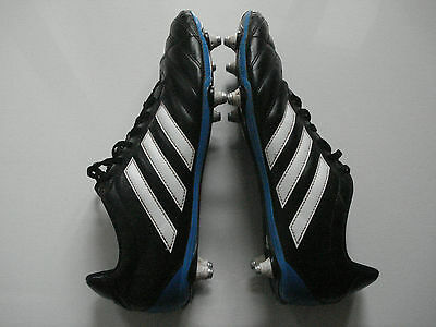 Adidas Black/White/Blue Rugby/Football Boots Size UK 12.