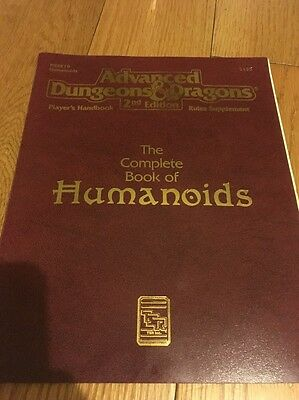 Tsr Ad&d 2E Phbr Complete Humanoids Of Book 2135 Advanced Dungeons & Dragons