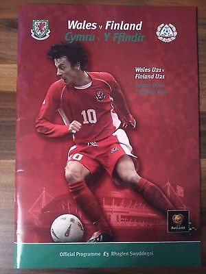 Wales V Finland Programme. Euro 2004 Qualifier 10/9/03