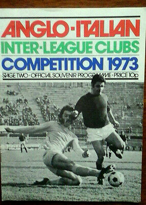Anglo Italian Cup 1973 Stage Two, Programme Inc Manu/newcastle/palace+ Others