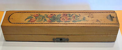 "VINTAGE ""MAPLE"" PENCIL BOX with KEY"