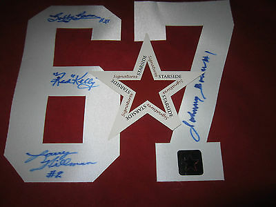 1967 Cup Johnny Bower Red Kelly Bobby Baun Hillman Signed Toronto Maple Leafs