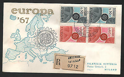 PG-A014 ANDORRA-FRENCH - Europa Cept, Fdc Cover, 1967