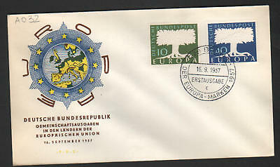 PG-A032 GERMANY - Europa Cept, Fdc Cover, 1957