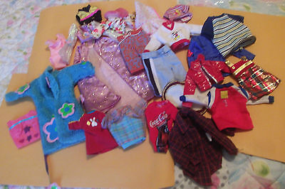 Lot of 20 Items Of Clothing Sized For Barbie, Ken & Fashion Dolls Pink Labels