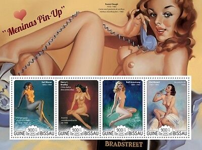 Z08 GB15218a GUINEA-BISSAU 2015 Pin up girls art MNH ** Postfrisch