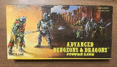 """Grenadier 2011 Orc's Lair Advanced Dungeons & Dragons AD&D """"The Solid Gold Line"""""""