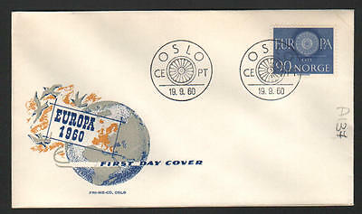 PG-A137 NORWAY - Europa Cept, Fdc Cover, 1960 Oslo