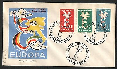PG-A205 LUXEMBOURG - Europa Cept, FDC 1958 Cover