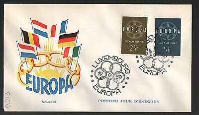 PG-A213 LUXEMBOURG - Europa Cept, Fdc Cover, 1959 Reg. To Milan Italy
