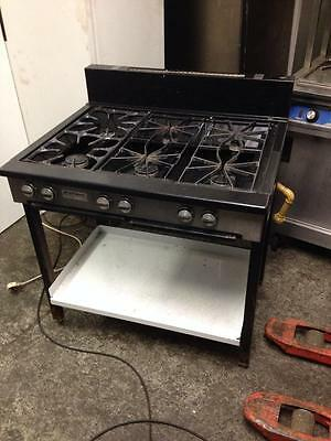 Commercial 6 Burner Gas Cooker Removed From School Complete For Restaurant Cafe