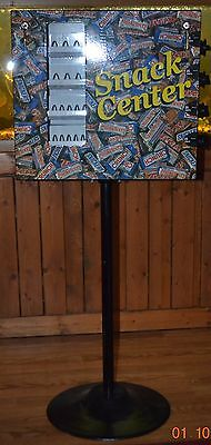 Snack Center Manual Candy Bar Vending Machine With Stand 25 Cent Vend
