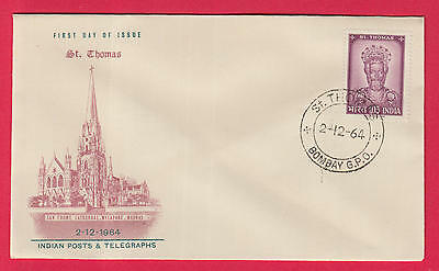 PG-A387 INDIA IND - Paul Vi, Fdc Pope Visit Country 1964 St. Thomas