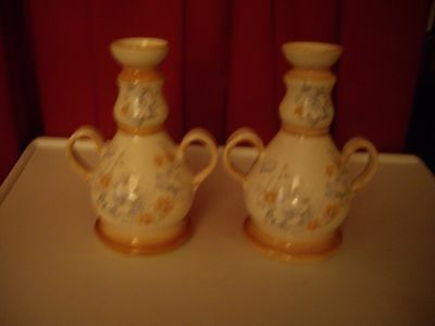 David Smeed  Rye Pottery, Sussex  Pair (Two Handled) Vase/Candle Holders