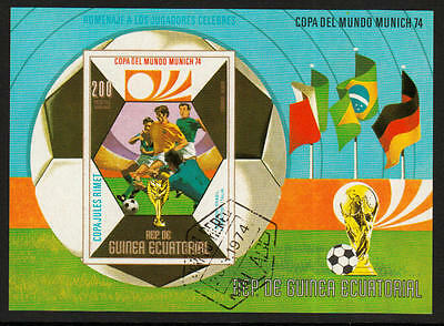 PG-A613 FOOTBALL - Eq. Guinea, Germany Munich '74 Imperf. 1974 Used Cto Sheet