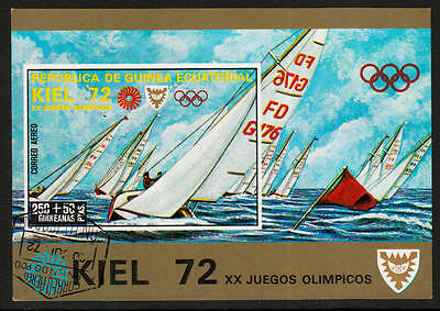 PG-A616 OLYMPIC GAMES - Eq. Guinea, Kiel Germany Sailing Imperf. 1972 Used Cto