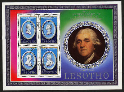 PG-A617 LESOTHO - Sheet, Anniv. Of Josiah Wedgwood, 1730-1980 Used Cto Sheet
