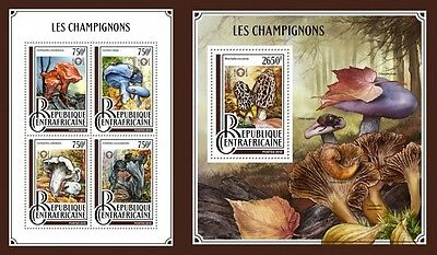 Z08 IMPERFORATED CA16902ab CENTRAL AFRICAN REP. 2016 Mushrooms MNH ** Postfrisch