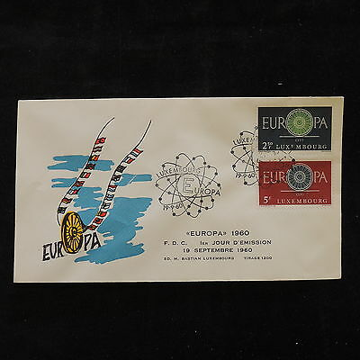 PG-A669 LUXEMBOURG - Europa Cept, 1960, Fdc, Flags Cover