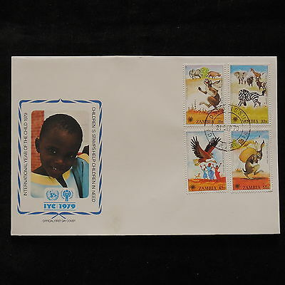 PG-A681 ZAMBIA - Fdc, 1979, International Year Of Child Cover