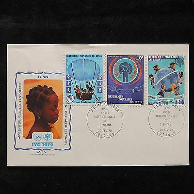 PG-A683 BENIN - Fdc, 1979, International Year Of Child Cover