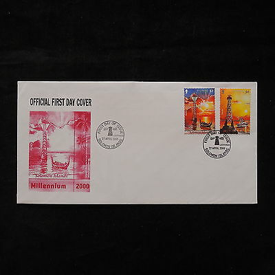 PG-A686 SOLOMON ISLANDS IND - Ships, 2000, Fdc Millenium Cover