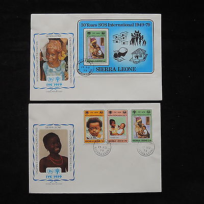 PG-A701 SIERRA LEONE IND - Fdc, 1979, International Year Of Child Covers