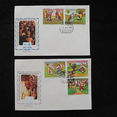 PG-A705 EQ. GUINEA - Fdc, 1979, International Year Of Child Covers