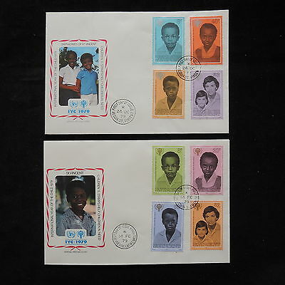 PG-A708 ST VINCENT & GRENADINES IND - Fdc, 1979, Internat. Year Of Child Covers