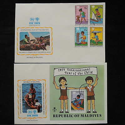 PG-A712 MALDIVES IND - Fdc, 1979, International Year Of Child Covers