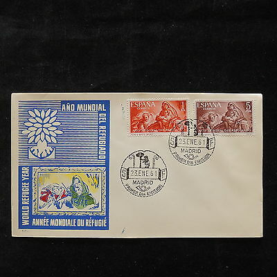 PG-A760 SPAIN - Fdc, 1961, International Year Of Refugee Cover